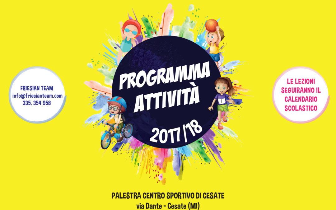 CORSI DI MOTRICITÀ, MULTISPORT E TEEN FITNESS-  ANNO 2017/18