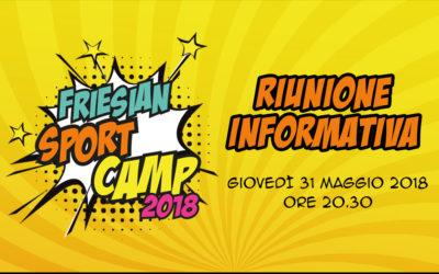 RIUNIONE INFORMATIVA  – Friesian Sport Camp 2018