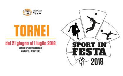 Sport in Festa 2018 – I TORNEI