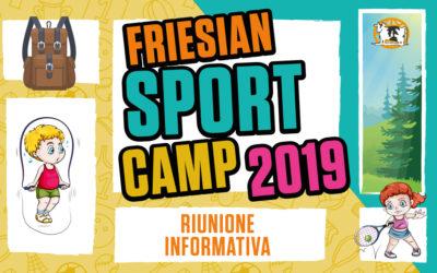 RIUNIONE INFORMATIVA – Friesian Sport Camp 2019