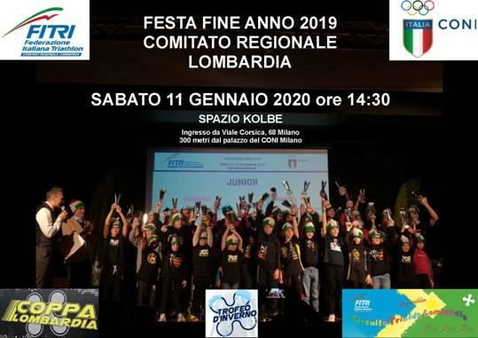 Sabato 11 gennaio a Milano la FESTA DEL COMITATO REGIONALE TRIATHLON LOMBARDIA
