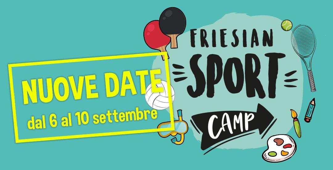 FRIESIAN SPORT CAMP – Nuova settimana dal 6 al 10 settembre